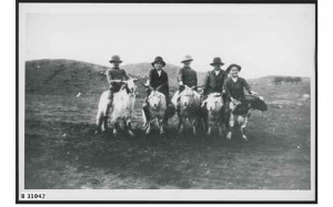 A group of boys ready for a goat race at Blinman in 1920