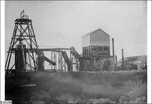 Leigh Creek Shaft head about 1900