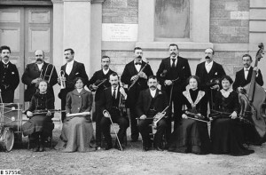 Members of a small orchestra in Quorn