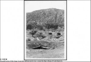 Abandoned mine shaft at Sliding Rock Mine, Cadnia, looking north. Date:1972