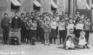 The fife and drum band at the Quorn School in 1905.